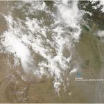 Sandstürme und Gewitter in Nordindien