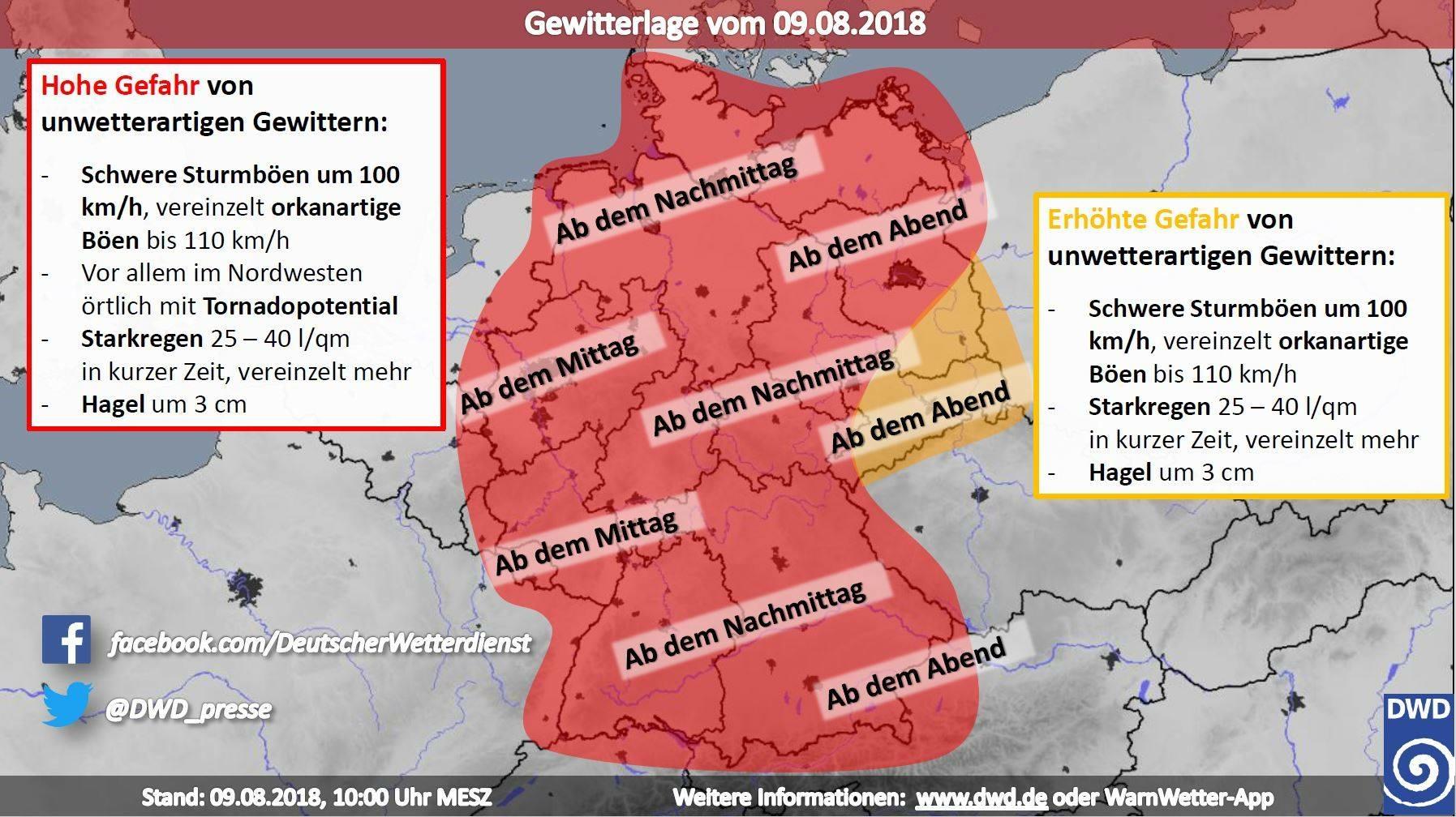 unwetterwarnungen deutscher wetterdienst